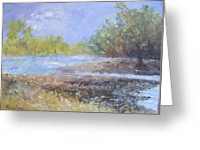 Landscape Whit River Greeting Card