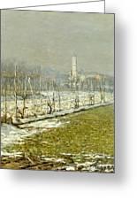 Landscape. Winter Sun Greeting Card