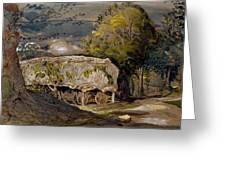Landscape With A Barn, Shoreham, Kent Greeting Card