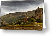 Landscape With A Castle On A Hill And A Greeting Card