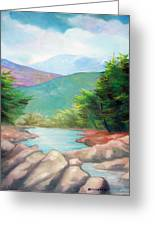 Landscape With A Creek Greeting Card