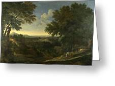 Landscape With Abraham And Isaac Greeting Card