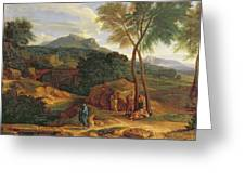 Landscape With Conopion Carrying Greeting Card