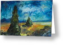 Emerald Spires Greeting Card