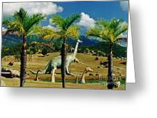 Landscape With Dinosaurs Greeting Card