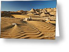 Landscape With Mountains In Egyptian Desert Greeting Card