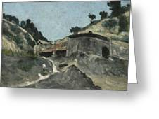 Landscape With Water Mill, C.1871 Greeting Card