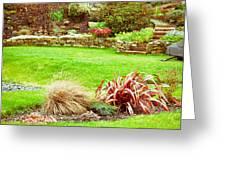 Landscaped Garden Greeting Card