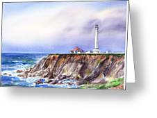 Lighthouse Point Arena California  Greeting Card