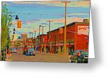 Landsdowne Condos 5th Avenue The Glebe Ottawa Street Scene Paintings Carole Spandau Canadian Art Greeting Card