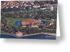 Landskrona Citadel Photographed From The Air Greeting Card