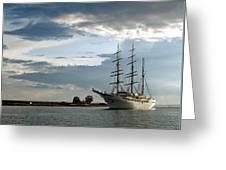 Landskrona Se Sea Cloud II 03 Greeting Card