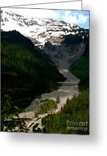 Landslides At Mount Rainier Greeting Card