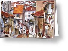 Laneways Of Nerac Greeting Card