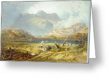 Langdale Pikes, From The English Lake Greeting Card