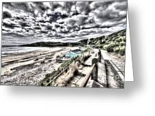 Langland Bay Painterly Greeting Card