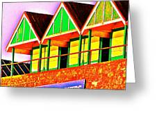 Langland Huts I Greeting Card