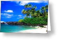 Laniakea Beach Oahu Greeting Card by Lisa Cortez