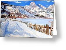 Valbona Snow - Margjeka Hotel Greeting Card