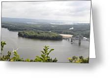 Lansing Bridge Panoramic Greeting Card