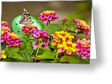 Lantana With Butterfly Greeting Card
