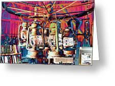 Lantern Chandelier 02 Greeting Card