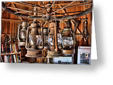 Lantern Chandelier Greeting Card