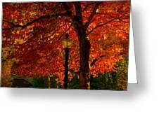 Lantern In Autumn Greeting Card