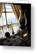 Lantern In The Window. Greeting Card