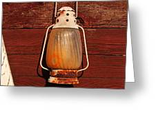 Lantern On Red Greeting Card
