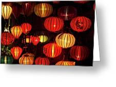 Lantern Shop At Night, Hoi An, Vietnam Greeting Card