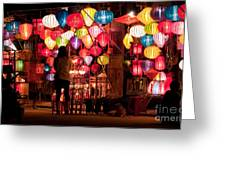 Lantern Stall 01 Greeting Card