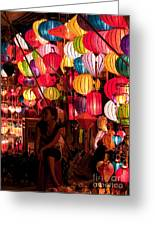 Lantern Stall 02 Greeting Card