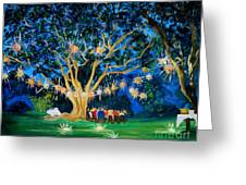 Lantern Tree Greeting Card