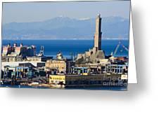 Lanterna - Lighthouse In Genova Greeting Card