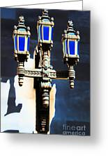 Lanterns Out Of The Blue Greeting Card
