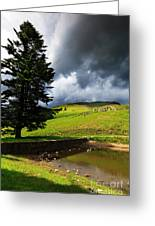 Lanty's Tarn On A Stormy Afternoon Greeting Card