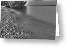 Lapping Waters On The Shore Greeting Card
