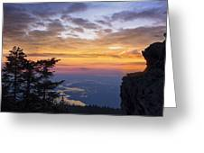 Larch Mountain Sunset Greeting Card