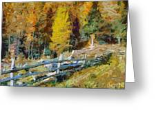 Larches In Autumn Greeting Card