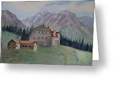 Large Barn On A Hill Greeting Card