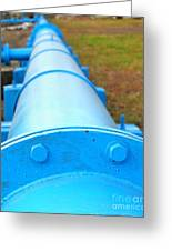 Large Blue Pipeline Greeting Card