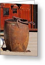 Large Mining Bucket Greeting Card