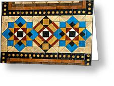 Large Mosaic Floor Tiles Greeting Card