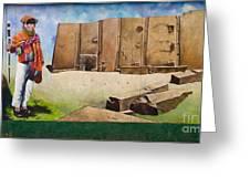 Large Mural In Cusco Peru Part 7 Greeting Card