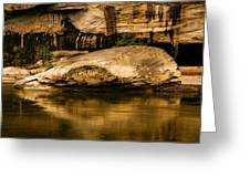 Large Rock In Cumberland River Greeting Card