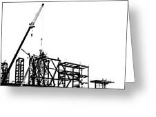 Large Scale Construction In Outline Greeting Card