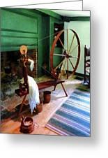 Large Spinning Wheel Greeting Card