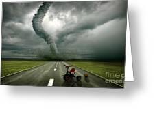 Large Tornado Greeting Card