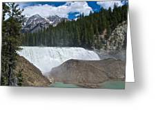 Larger View Of Wapta Falls In Yoho Np-bc Greeting Card